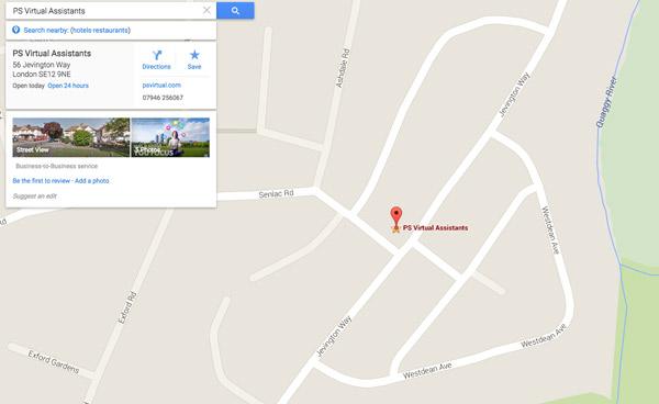 PS Virtual Assistants Google Maps